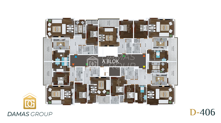 Damas Project D-406 in Trabzon - Floor Plan 01