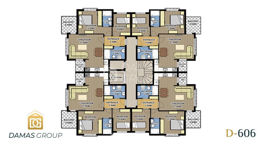 مجمع داماس 606 في انطاليا  - صورة مخطط 01