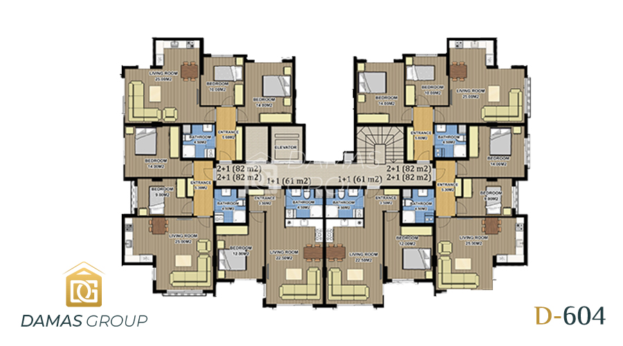 Damas Project D-604 in Antalys - Floor Plan 01