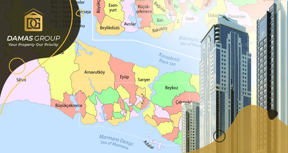 المناطق الأكثر حيوية في مجال الاستثمار العقاري في إسطنبول